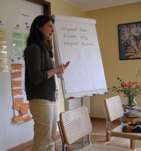Claudia im Training